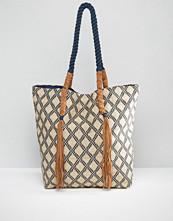 Pimkie Geo Print Tassel Tote Bag