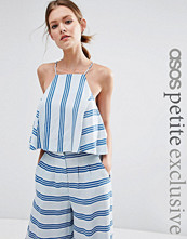 ASOS Petite Co-ord Linen Stripe Tailored Top