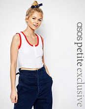 ASOS Petite Button Front Vest Top with Tipping