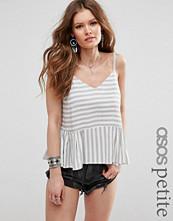 ASOS Petite Soft Gathered Stripe Cami