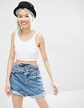 Monki Jersey Vest Crop Top