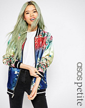 ASOS Petite Bomber Jacket with Ombre Print Detail