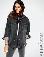 ASOS Petite Washed Black Girlfriend Jacket