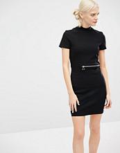 Cheap Monday High Neck Mini Dress With Zip Detail