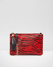Urbancode Leather Pony Detail Clutch Bag With Optional Shoulder Strap