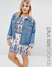 Boohoo Plus Embroidered Denim Jacket