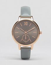 ASOS Sleek Grey & Rose Gold Dial Detail Strap Watch