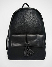 Pieces Backpack With Braided Pocket Detail