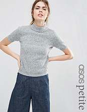 ASOS Petite Knitted Tee With High Neck