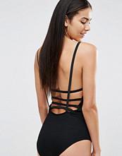 Missguided Criss Cross Strap Back Bodysuit