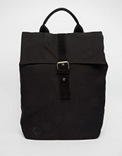 Mi-pac Canvas Fold Top Backpack in Black