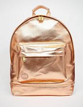 Mi-pac Metallic Backpack in Rose Gold