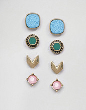Missguided Four Pack Stud Earrings