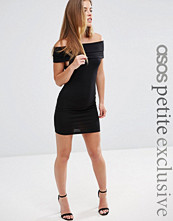 ASOS Petite Sleeveless Bodycon Dress with Deep Bardot