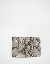 Nali Silver Snake Effect Envelope Clutch Bag