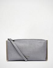 Nali Hematite Metal Edge Clutch Bag