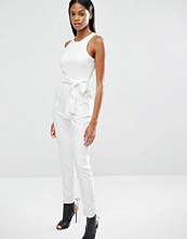 Lavish Alice High Neck Tie Front Jumpsuit