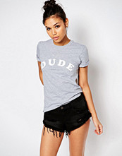 Adolescent Clothing Boyfriend T-Shirt With Dude Print