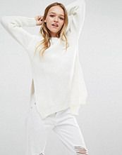 Daisy Street Ribbed Knitted Jumper with Side Splits
