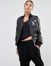 Daisy Street Bomber Jacket With Alien Woven Badges
