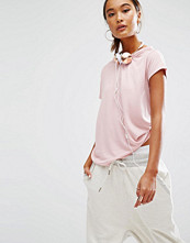 Daisy Street Relaxed T-Shirt With Distressed Neck