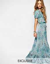 Reclaimed Vintage Maxi Wrap Dress In Paisley