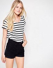 Vila Dreamers Striped U Neck T-Shirt