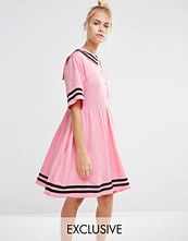 Lazy Oaf Sailor Dress With Introvert Embroidery