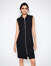 Ganni Moscow Tailor Zip Through Dress in Black