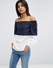 ASOS Off Shoulder with Contrast Overlay