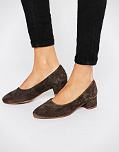 Vagabond Jamilla Dark Grey Suede Block Heel Shoe