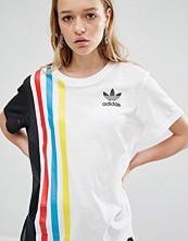 Adidas Originals Primary Three Stripe Oversized T-Shirt With Mesh Insert