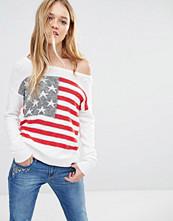 Hollister Americana Off Shoulder Flag Knit Jumper