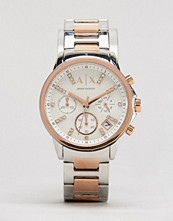 Armani Exchange Chronograph Two Tone Watch AX4331