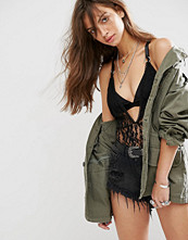 Boohoo Lace Harness Strappy Body