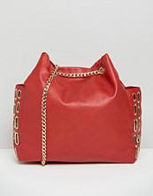 Yoki Fashion Chain Shoulder Bag With Eyelet Detail
