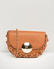 Yoki Fashion Eyelet Saddle Cross Body Bag