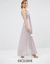 TFNC WEDDING Drape One Shoulder Maxi Dress