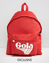 Gola Exclusive Classic Backpack In Red And White