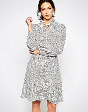 Ivana Helsinki Reija High Neck Printed Shirt Dress