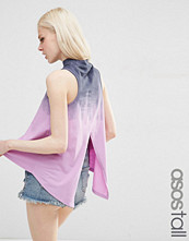 Asos Tall T-Shirt In Tie Dye With Split Back