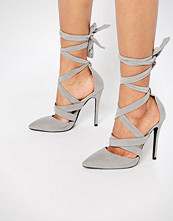 Public Desire Blake Tie Up Heeled Shoes