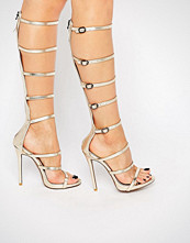 Public Desire Sabina Strappy Knee High Heeled Sandals