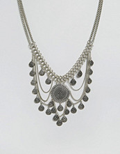Glamorous Multi Disc & Chain Statement Necklace