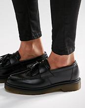 Dr. Martens Adrian Black Leather Tassel Loafer Flat Shoes
