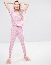 ASOS Barbie Logo Tee & Legging Pyjama Set