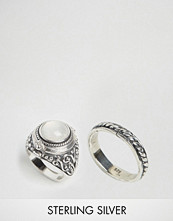 Rock 'N' Rose Rock N Rose Alma White Onyx Poison Ring Multipack