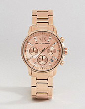 Armani Exchange Rose Gold Lady Banks Watch AX4326