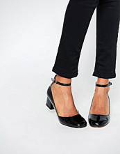 Miss KG Amber Black Mid Heeled Ankle Strap Shoes