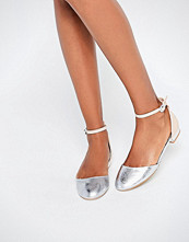 Miss KG Mindy Nude & Silver Mix Embellished Heel Flat Shoes